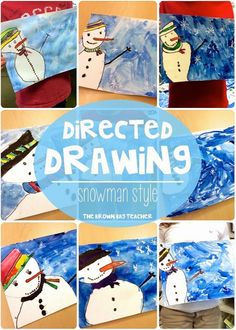 Snowman Directed Drawings