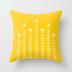Includes NEW + UPDATED COLOURS for 2016! ************************************************** Minimalist flower pattern on a pillow cover…