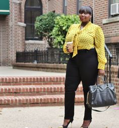 How To Take A Tie Neck Blouse From Work To Weekend, WorkWear Wednesday