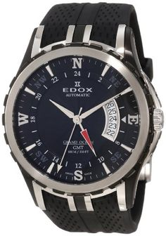 Men's Wrist Watches - Edox Mens  93004 357N NIN Automatic GMT Grand Ocean Watch -- Check this awesome product by going to the link at the image.