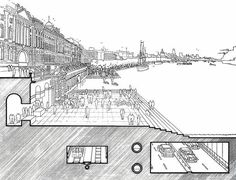 Richard Rogers, London - as it could be. drawing. architecture. sketch