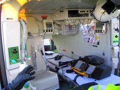 Back of medical helicopter <3