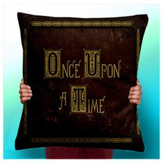 Once Upon a Time Story Book Cushion Pillow Cover Typographic Pillow... (22 BRL) ❤ liked on Polyvore featuring home, home decor, throw pillows, dark olive, decorative pillows, home & living, home décor, handmade home decor, patterned throw pillows and holiday throw pillows