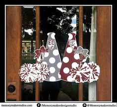 Door Decorations Cheer Camp Etsy 55 Ideas For 2019 Cheerleading Locker Decorations, Cheerleading Signs, Cheer Decorations, Senior Cheerleader, Cheer Megaphone, Football Cheer, Cheer Camp, Volleyball Players, Cheer Pom Poms
