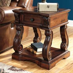 Signature Design By Ashley Alymere Brown Square End Table - T869-2