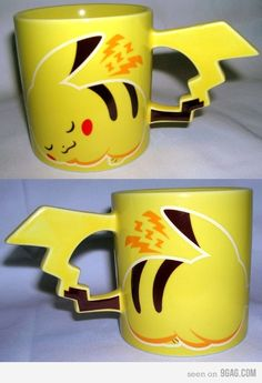 Pikachu mug.