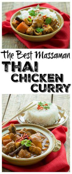 The Best Massaman Thai Chicken Curry Recipe