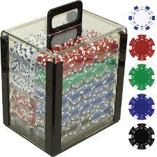 1000 - 11.5 gram Diced-Striped Poker Chips