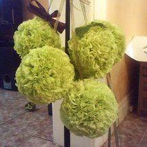 DIY Tissue Pomanders....Tutorial found here:  http://www.projectwedding.com/wedding-ideas/diy-tissue-pomanders