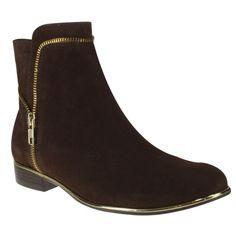 Bota Usaflex U4806 - Capuccino (Velour) - Calçados Online Sandálias, Sapatos e Botas Femininas | Katy.com.br