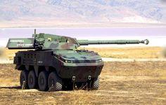 Otokar Arma 8x8 armored combat vehicle apc with 120 mm heavy gun .It is a tank killer