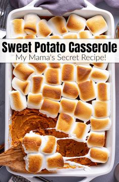 Sweet Potato Casserole Recipe With Marshmallows, Good Sweet Potato Recipe, Best Sweet Potato Casserole, Loaded Sweet Potato, Sweet Potato Pecan, Potatoe Casserole Recipes, Recipes With Marshmallows, Sweet Potato Marshmallow, Canning Sweet Potatoes