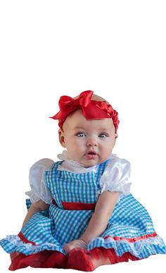 our baby dorothy costume features a blue gingham dress ruby shoe covers and red headband baby dorothy costume includes a red diaper cover - Diaper Costume Halloween