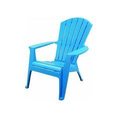 Turquoise Plastic Adirondack Chairs