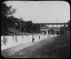Bicycle club in Eden Park, Cincinnati, 1898.