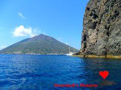 The island of #Stromboli seen from #Strombolicchio.