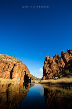 Glen Helen gorges at West MacDonnell Ranges near Alice Springs, Northern Territory_ Australia
