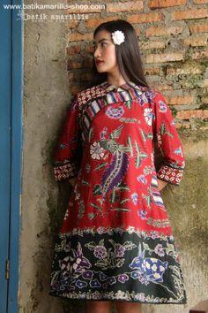batik amarillis's joyluck dress 2014 made with batik wonogiren,Indonesia www.batikamarillis-shop.com : beautiful ethnic inspired dress to bring you joy & luck... it's beautiful modern reinvention of the classic Qipao, it provides the ideal combination of comfort & style