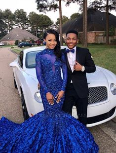 Prom-Dresses Party-Gowns Appliques Mermaid Evening Real-Photo New Royal-Blue Long-Sleeve Short Strapless Prom Dresses, Black Girl Prom Dresses, Blue Mermaid Prom Dress, Royal Blue Prom Dresses, Prom Dresses Long With Sleeves, Lace Party Dresses, Cheap Prom Dresses, Dress Long, Formal Dress