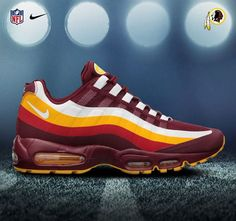 "#WholesaleShoesHub  #COM     Nike Air Max ""NFL DRAFT PACK"" 2102 >> Washington Redskins"