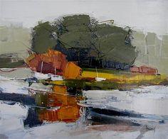 Hervé LENOUVEL - www.art-et-avenir.fr Landscape Artwork, Abstract Landscape Painting, Contemporary Landscape, Watercolor Landscape, Abstract Art, Landscape Lighting, Landscape Edging Stone, Impressionism Art, Art Graphique