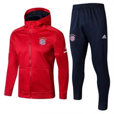Bayern München Red Thailand Soccer Jacket Uniform With Hat Hoodie Sweatshirts, Zip Hoodie, Nike Outfits, Football Tracksuits, Freshman Outfits, Red Vest, Football Shirts, Bermudas, Jackets