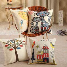 Viernes Negro Gran sofá almohada, sábanas 100% algodón Funda de cojín almohada cubierta fina , nuevos cojines coloridos hogar decorativos