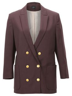 VIGGA CROPPED BLAZER F, Fudge, main