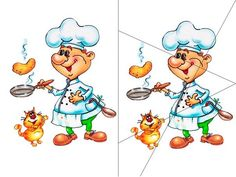 повар File Folder Games, File Folders, Bowser, Scooby Doo, Disney Characters, Fictional Characters, Preschool, Mandala, Classroom