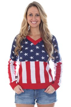 de027738022 Women s American Flag Sweater. American Flag SweaterStay WarmEaglesEagle. Stay  warm and show your patriotism at the same time ...