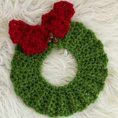 Christmas Wreath Hot Pad ~ Crochet Version pattern by Melody Rogers  downloaded