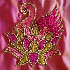 Magam Work Designs, Hand Work Design, Hand Work Blouse Design, Hand Designs, Aari Work Blouse, Peacock Blouse Designs, Peacock Embroidery Designs, Simple Blouse Designs, Hand Work Embroidery