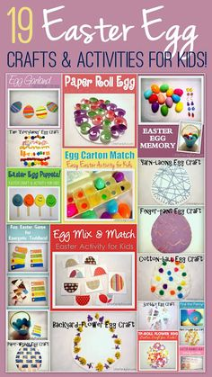 Fun and simple Easter Egg activities for kids!