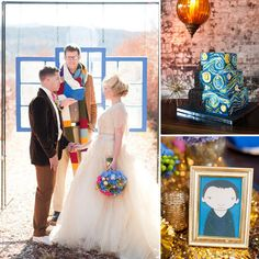 Something Blue: Doctor Who Wedding Inspiration @Sara Harlow is it too late to change your theme?