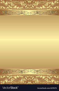 Golden background vector image on VectorStock