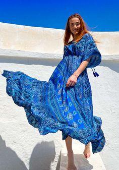 Φόρεμα Miss Pinky maxi ethnic silk - Miss Pinky Ethnic, Cover Up, Bohemian, Silk, Womens Fashion, Dresses, Vestidos, Women's Fashion, Dress