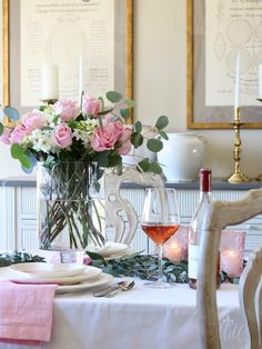 Soft & Simple Valentine's Day Table