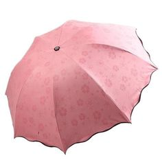 UMBRELLA DUAL FOLDING NON-AUTOMATIC MAGIC FLOWER SUN RAINY WOMEN.