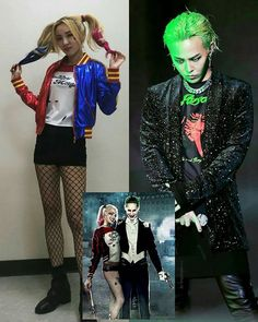 Bruhhhs omg😂 I'm okay with this it's just the fact that G-Dragon really looks like the joker with that hair is killing me😂I still love you tho Gd❤😂 South Korean Girls, Korean Girl Groups, Sandara Park Fashion, Gd And Cl, Vip Bigbang, Bigbang G Dragon, Punk Disney, Female Reference, Choi Seung Hyun