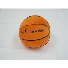 This 6 inch soft chime Babies R US Plush My First Basketball sports ball is the first choice for baby. It chimes when rolled around and has a soft plush feeling to the touch. Spot clean only.