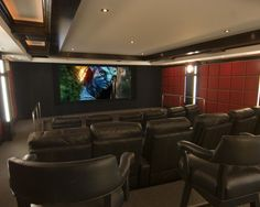 Modern Media Room Design, Pictures, Remodel, Decor and Ideas - page 5
