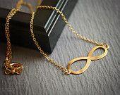 Gold infinity necklace - dainty minimalist everyday jewelry
