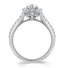 Bridal Wedding Ring and Diamond Engagement Rings with Beautiful Halo Bridal Set on MyBridalRing Online Store - http://www.mybridalring.com/Rings/round-diamond-bridal-set-in-14k-white-gold/