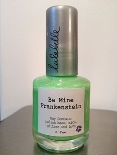 Happy Halloween Lulalovers! Introducing the eerily awesome Be Mine Frankenstein, a spooky (but not really) and fun light green! Contrasting dark green specks against its cool green tone, Be Mine Frankenstein is a great choice to wear out trick or treating, or doing whatever else you do to celebrate Halloween!