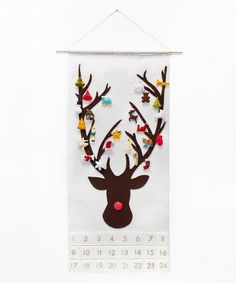 Christmas Advent Calendar Pattern  Wool Felt  di SugarHouseShop