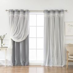 August Grove Loar Solid Blackout Thermal Grommet Curtain Panels Size per Panel: W x L, Curtain Color: Gray Custom Drapes, Curtains Living Room, Kids Curtains, Curtains, Panel Curtains, Drapes Curtains, Colorful Curtains, Grommet Curtains, Home Decor