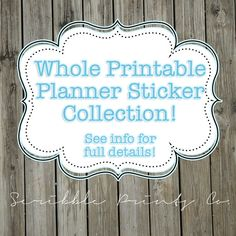Printable Planner Stickers PDF // Whole Printable Collection [23 Pages] (Perfect for Erin Condren Planners) {10% OFF}