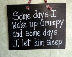 Grumpy Husband funny wood sign. $7.99, via Etsy.