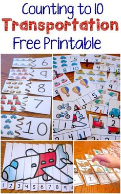 These four great free printable activities make a fantastic addition to a transportation theme and provide excellent opportunities to work on counting to Thinking about this for around the world in 10 days Transportation Theme Preschool, Preschool Themes, Preschool Learning, Kindergarten Math, Classroom Activities, Preschool Crafts, Learning Activities, Teaching, Transportation Activities For Preschoolers