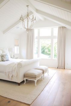 Bright Airy master bedroom in white colors